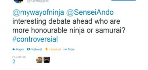 Initiating the Ninja vs Samurai banter.