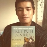 "Selfie with ""True Path Of The Ninja: The Definitive Translation Of The Shoninki"" book"